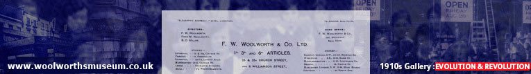 Evolution and revolution at Woolworth's in the 1910s.