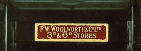 The transom sign above the doors of a 1920s British Woolworth's