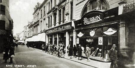 The F. W. Woolworth Threepenny and Sixpenny Stores in King Street, St Helier, Jersey, Channel Islands, which opened on 9th April 1921 and, after 78 years of exemplary service and exceptional profits, closed acrimoniously in the collapse of 2008