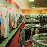 Bright 1970s colours in evidence at the re-opened Colchester store in the 1970s