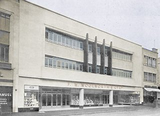"The large Woolworth superstore in Broadmead, Bristol, Avon, which was rebranded ""21st Century Shopping"" in 1982"