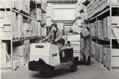 A putaway in the early days of Woolworth's Castleton Distribution Centre