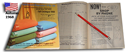 The Fall 1968 catalogue from F. W.Woolworth Co. announced a new mail order service, which was available across the USA