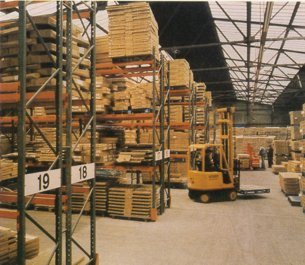 The interior of a 1970s transhipment centre