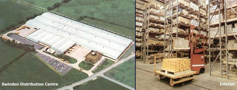This 70s aerial photograph of the Swindon Distribution Centre illustrates its huge scale.