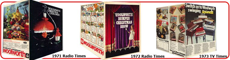 The British Woolworth began to distribute colour Christmas Catalogues with TV listings magazines in 1971. Initially it chose the best-selling Radio Times before adding the rival TV Times the following year. The publications proved a great way of reaching the vast majority of households across the UK.