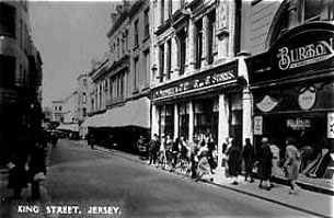 The F. W. Woolworth 3d and 6d Store in King Street, St Helier, pictured in happier times before the war.