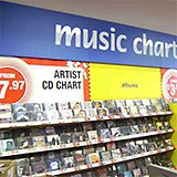 Artist CD chart discs from £7.97 in a Woolworths store in May 2008