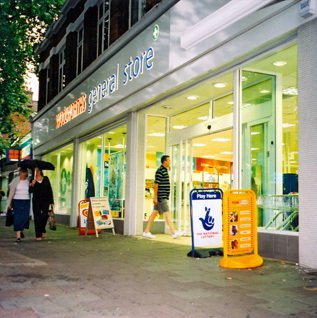 A short-lived American drugstore format, Woolworths General Store, was opened in collaboration with Superdrug. The Chiswick store is pictured in 2001