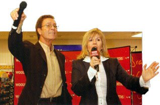 Cliff Richard and Maggie Philbin proved a big hit with the public at a book signing in the Broad Street, Reading store