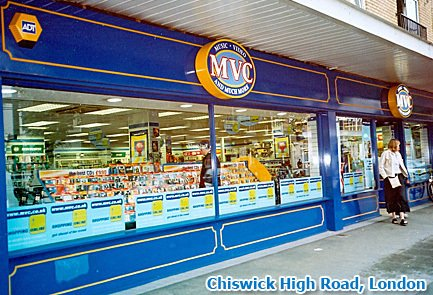 MVC's store in Chiswick High Road, London - one of eighty five across England in 2002
