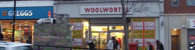 The Wallington, Surrey Woolworths closes after seventy-three years' service. Like many branches it had contributed a net profit of over 10% in every single year of trading.