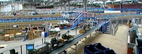 The interior of EUK's fully automated fulfilment centre at Greenford