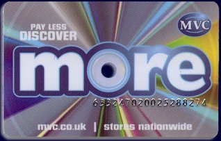 MVC's 'more' card proved a very effective way of driving up repeat business, allowing customers to build up money off a future purchase