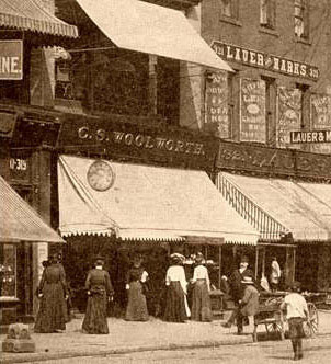 Charles Sumner Woolworth's first and favourite store in Scranton, Pennsylvania, pictured in the 1890s.  With special thanks to Mr. Scott Oakford.