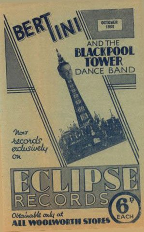 The Crystalate Gramophone Record Company produced leaflets promoting the latest titles on their Eclipse Records label. The brochures were handed out in F.W. Woolworth stores across Great Britain and Ireland.
