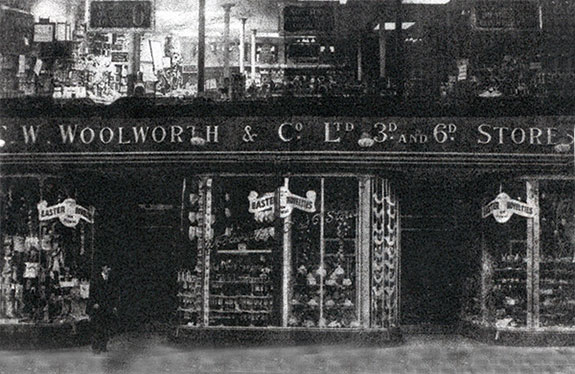 Store Manager George Wales outside the store that he opened for Woolworth's in Hare Street, Woolwich, London in 1911. (Copyright picture with special thanks to Linda Michael)