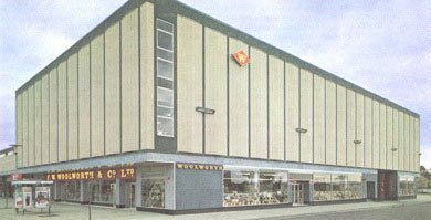 One of the largest British Woolworth stores ever opened in Harlow New Town in 1967. It offered a full department store range from premises originally intended for the Chelmsford and District Co-operative Society.