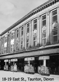 The large Woolworth store which stood in East Street, Taunton, Somerset (No. 110). It was one of the finest in the West Country