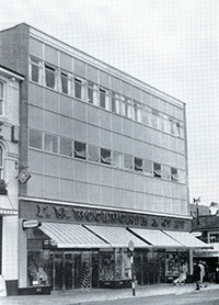 The Woolworth store at Paignton (No. 477) was given a full makeover in 1966, increasing its size from 6,190 to 21,826 square feet