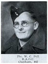 Private W.C. Pell of the ROAC, pictured in Volume 4 of the Forces Souvenir edition of the Woolworth Staff Magazine, 'The New Bond' in September 1941.