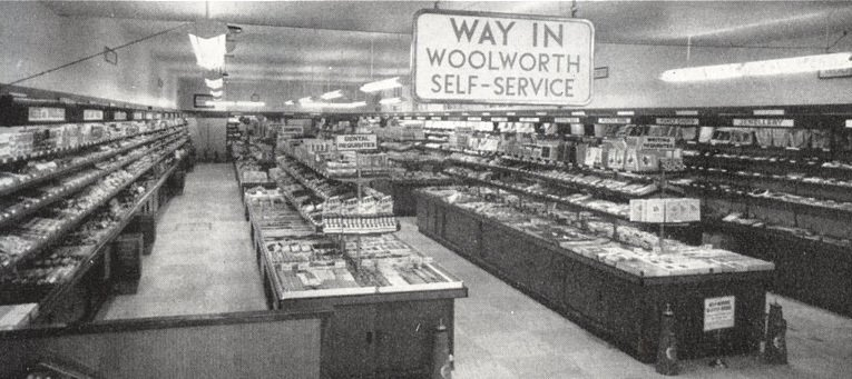 The self-service salesfloor at Woolworth's 232-234 Hawthorn Road, Kingstanding, Birmingham 44, which opened on 28 October 1955
