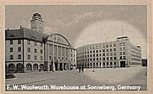 Long before there were Woolworth stores in Germany, the Company's Sonneberg Warehouse was providing a pipeline for European goods back to the USA. More than a billion Christmas decorations found their way through Sonneberg en-route to North America.