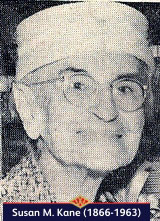 Susan M. Kane, one of the assistants in the first ever Woolworth store in 1879, pictured at age 95 in 1961