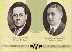 John Ben Snow and Roland H. Parker were the Buying Directors of Woolworths in the 1920s and were behind the product and range development