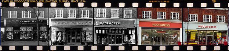 Five views of Woolies in Woodcote Road, Wallington stretching from 1934 to 2007. After 74 years of profitable trading, today it's an Iceland frozen food store.
