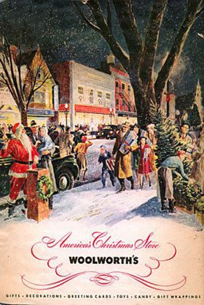 In marked contrast to the austerity and rationing encountered by customers of their European subsidiaries, the American F.W. Woolworth Co. treated customers to their first ever full-colour Christmas Catalogue in 1940.