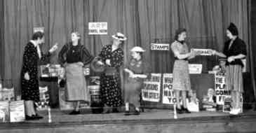 Staff from Woolworth's Metropolitan District Office put on a play about the ARP in 1937.  Two years later they were doing it for real.