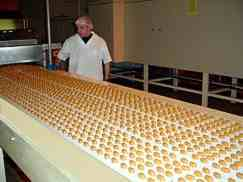 Toffee being prepared for the Woolies Pic'n'mix in 2004 at Ashbury's state-of-the-art factory