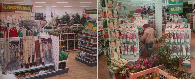 The new look Garden section of a large Woolworths store in 1986, after the brand was refocused by Kingfisher
