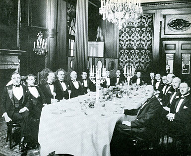 The Buying Team of F. W. Woolworth Co. GMBH, pictured at a dinner in Berlin in 1928