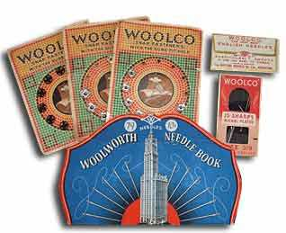 Woolworth sewing needles made in Redditch, Birmingham, England were a big seller in the USA before World War I