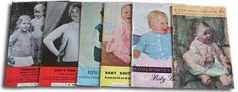 1950s Knitting Patterns from Woolworth's - priced at sixpence (2&frac12p) for a single pattern or a shilling (5p) for a book