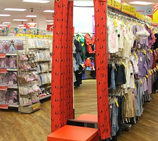 The 100th Woolworths store to get a new look in the new millennium - Peckham in South East London, which opened in 1912 was refreshed in 2005.  This is their Ladybird-branded children's clothing department.