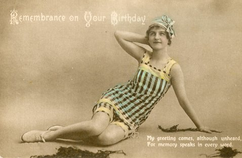 An Edwardian postcard-type birthday card from F. W. Woolworth & Co. Ltd. of London. The stores offered two for threepence.