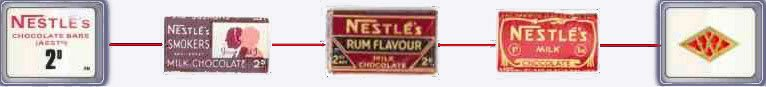 Nestlé chocolate bars were very popular in Woolworth's in the 1930s