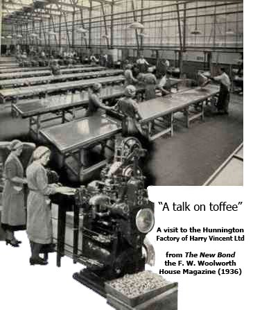 A talk on toffee from April 1936 - the interior of the Harry Vincent Ltd. toffee factory