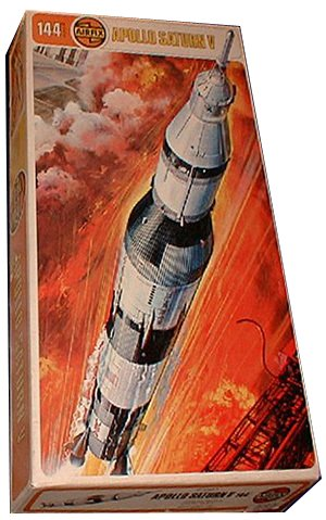 An Airfix kit of the Saturn V rocket from 1969