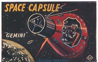 A Japanese-made model of the Gemini Space Capsule - a big seller at Woolworth's in the late 1960s