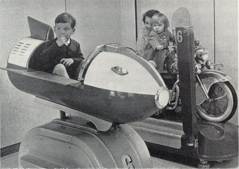 A special favourite during the 1960s - a space rocket kiddy ride at Woolworth's
