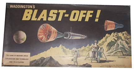 Waddingtons Blast Off - a boxed game released in 1969 to satisfy intense interest in the moon landing