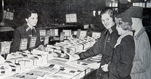 Almost business as usual in a British Woolworth stores at Christmas in 1939
