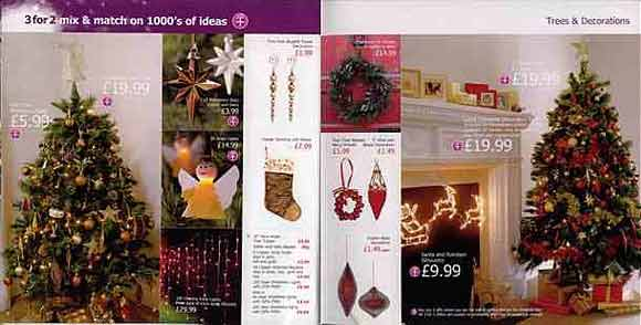 Elegant, pricey Christmas decorations in the Woolworths Christmas Catalogue for 2003