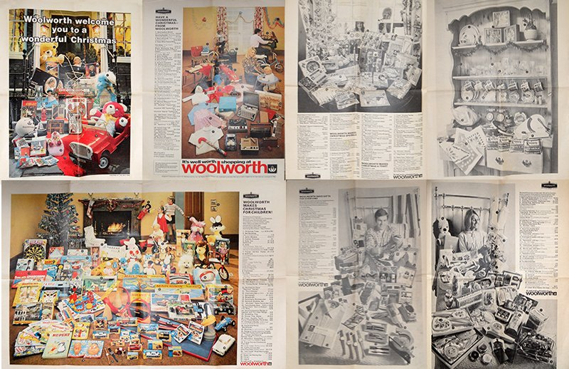 Woolworth UK's first modern Christmas Catalogue, an eight page insert which appeared in the Daily Mail in 1970